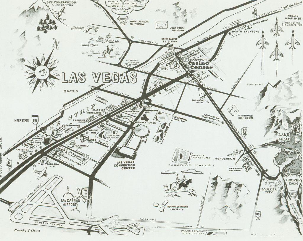 Old Las Vegas Map