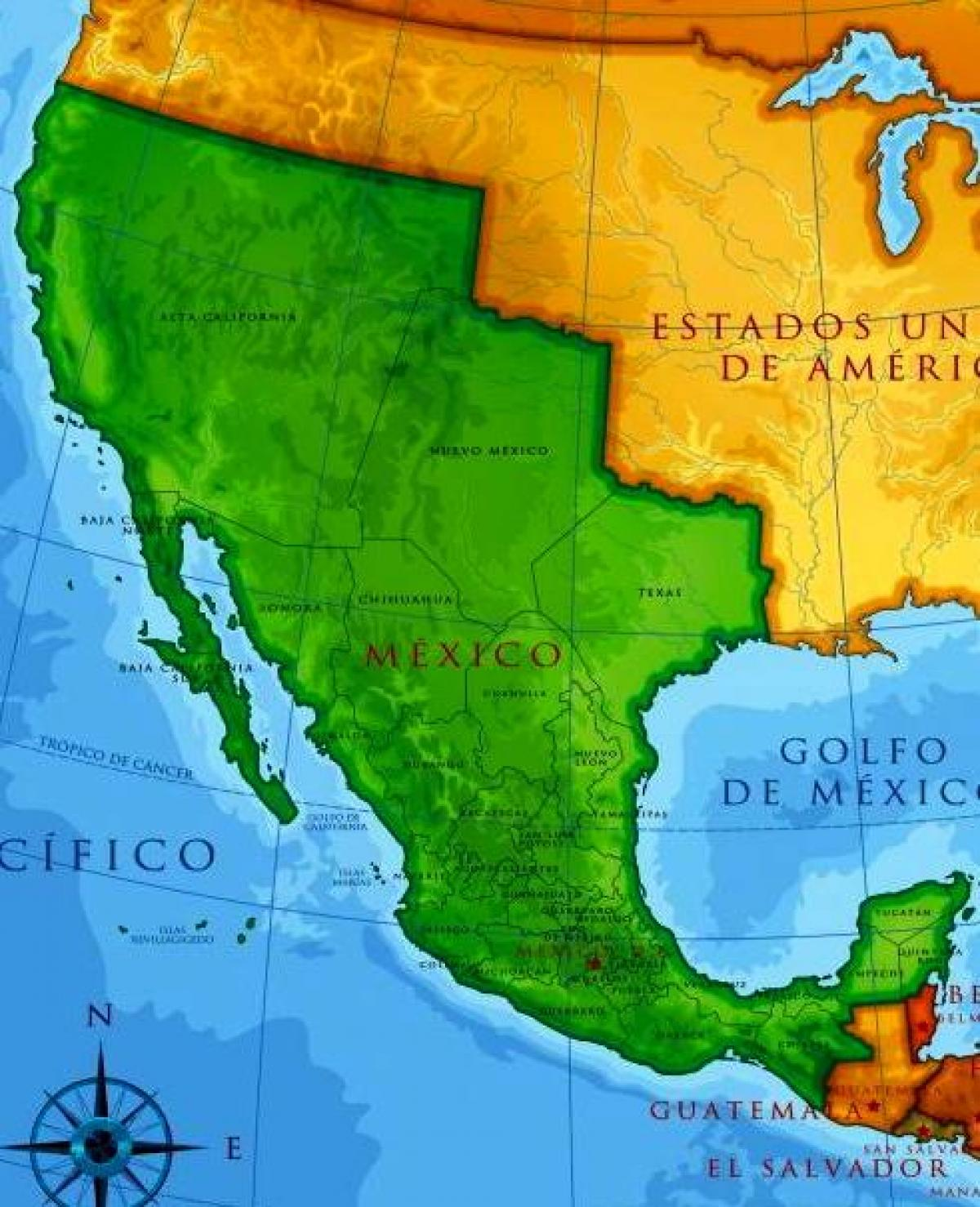 Old Mexican Map