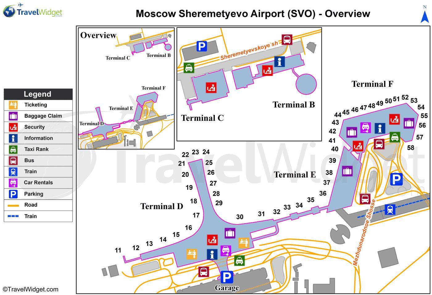 Sheremetyevo Terminal Map
