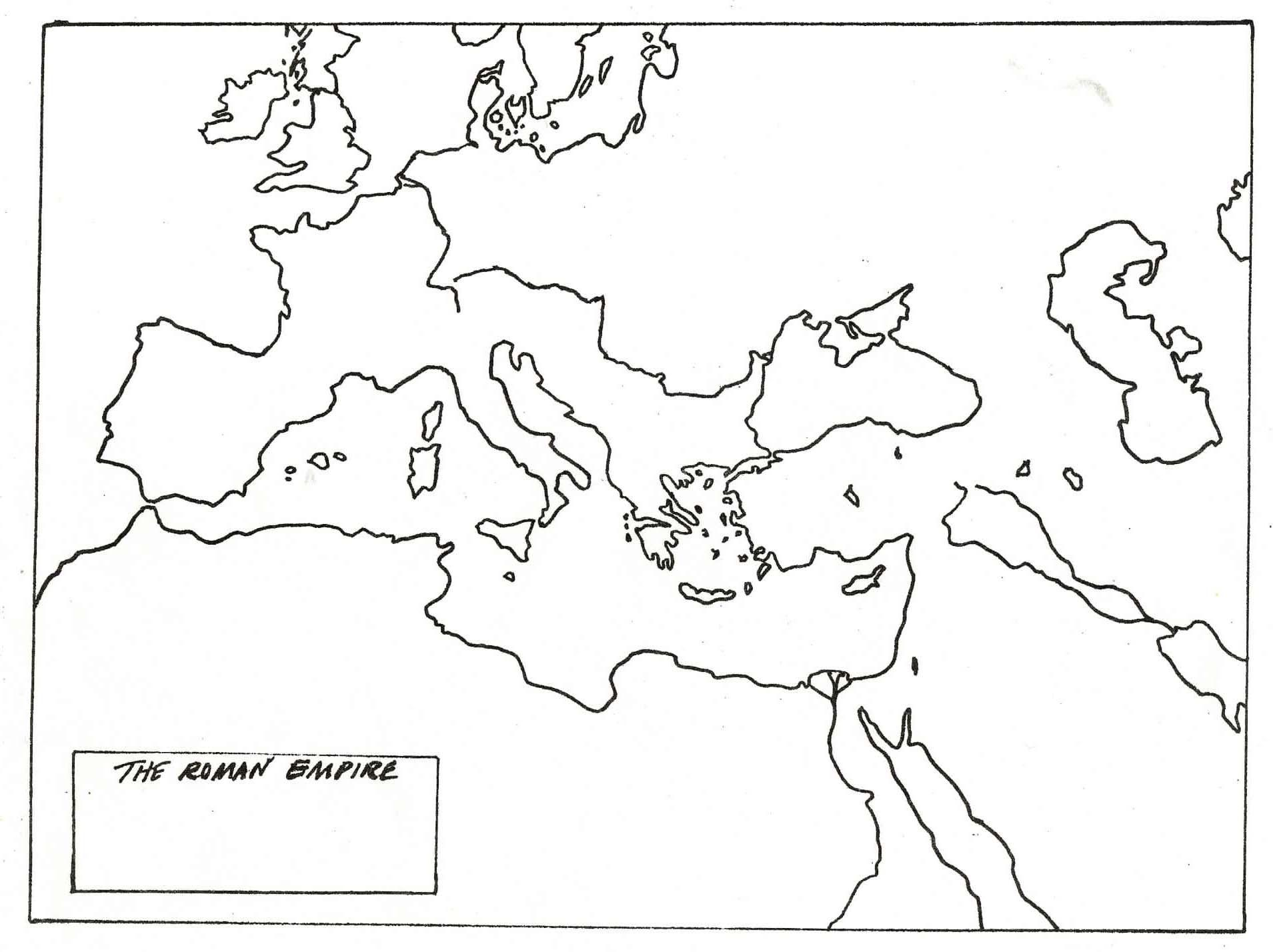 Ancient Rome Map Worksheet