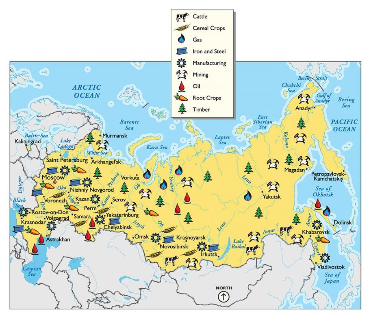 Russia Resources Map