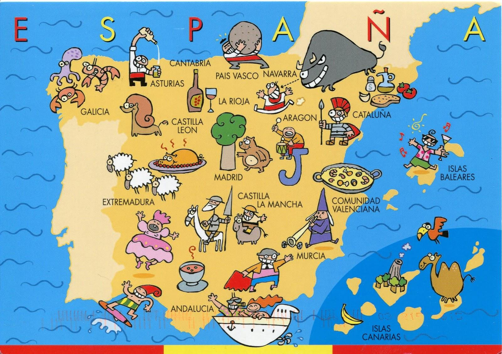 Map Of Spain For Kids