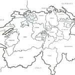 Switzerland Map Outline Switzerland Blank Map Western Europe Europe