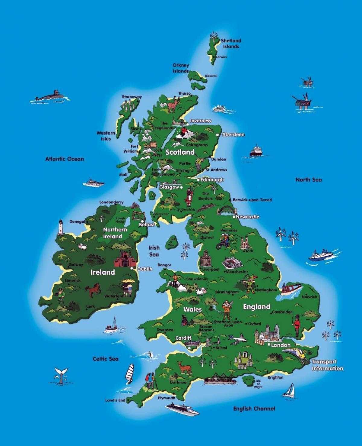 Uk Tourism Map