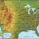 Us Mountain Map Mountain Map Usa Northern America Americas