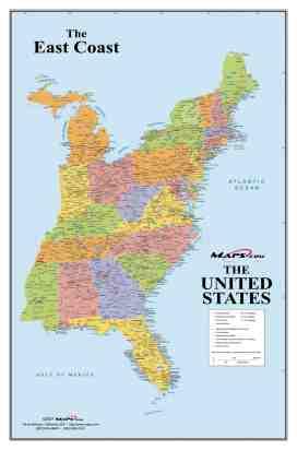 Usa East Coast Map Map Of Us East Coast Northern America Americas