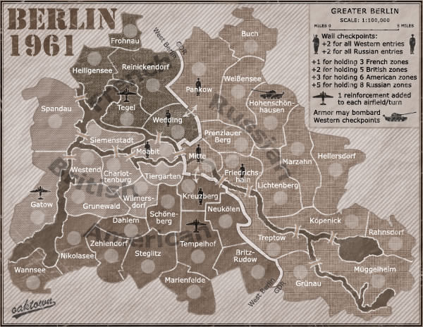 The Berlin Wall Over There - Berlin wall 1961 map