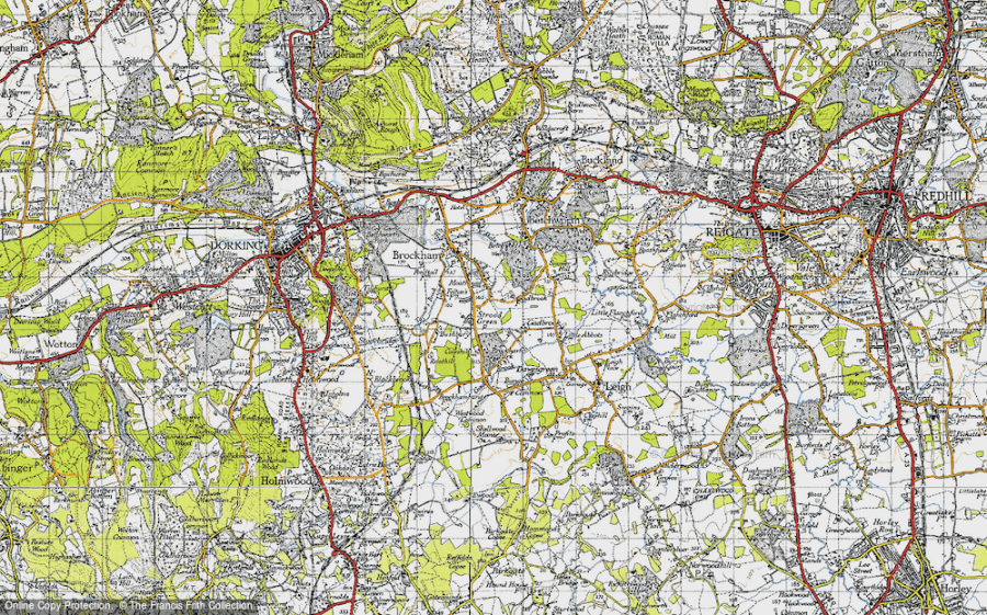 Old Maps of Strood Green   Francis Frith Old Map of Strood Green  1940 in 1940