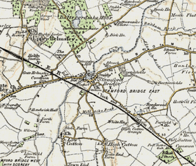 Old Map Of Stamford Bridge In 1903 1904