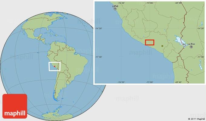 Savanna Style Location Map Of Aco