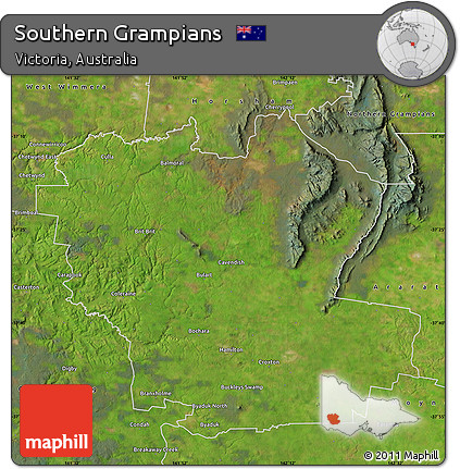 Satellite Map of Southern Grampians