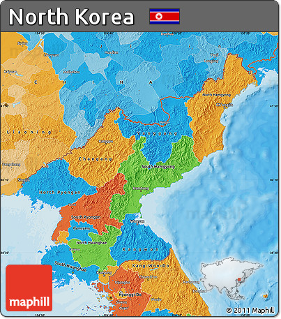 Political Map of North Korea