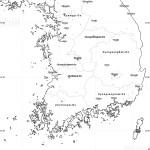 Blank Simple Map Of South Korea