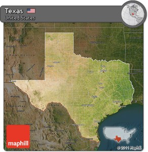 Free Satellite Map of Texas  darken     darken Satellite Map of Texas  darken
