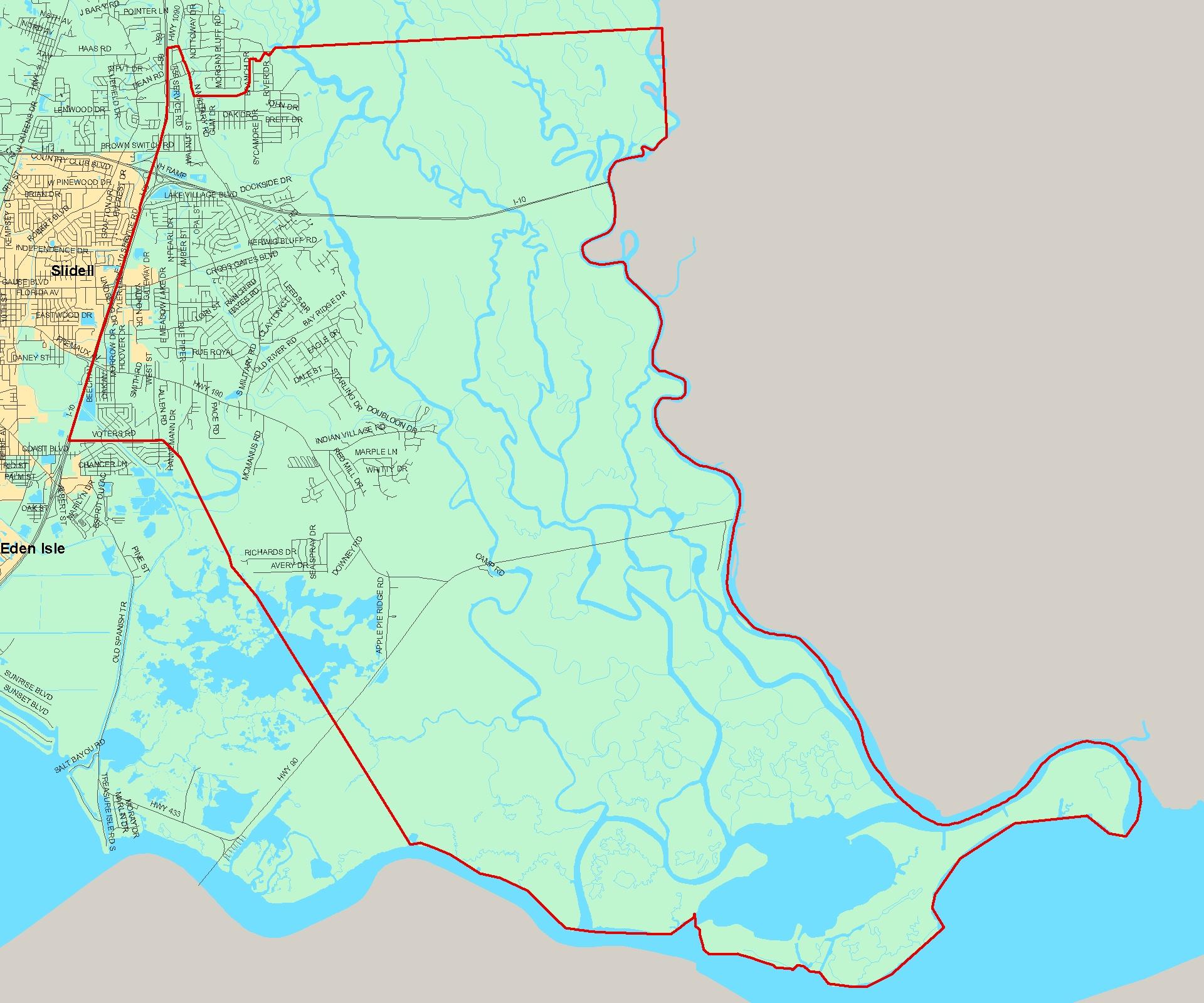 St Tammany School District Maps