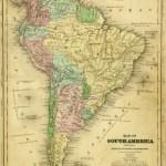 South America Map 1844 Original Art Antique Maps Prints