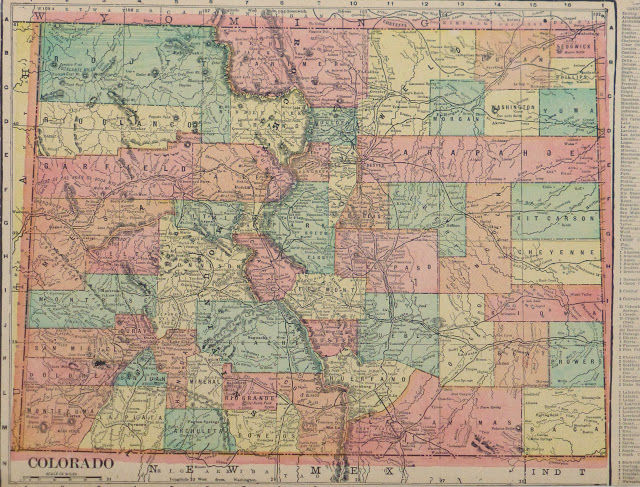 Colorado Map  1903   Original Art  Antique Maps   Prints Colorado Map  1903 main 9415K