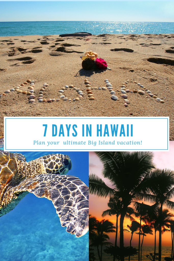 Discover the perfect 7 day itinerary on the Big Island Hawaii (USA). One week on the Big Island Hawaii #hilo #kona #volcano #hawaii