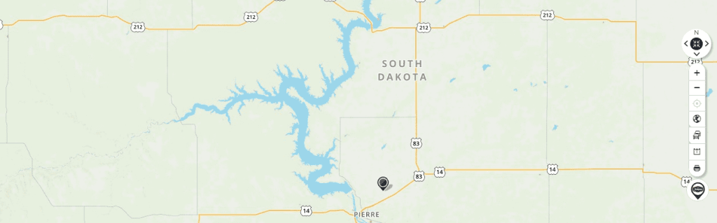 Mapquest Map of South Dakota and Driving directions