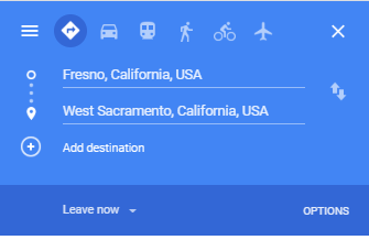 Google Maps Driving Directions Route Planner