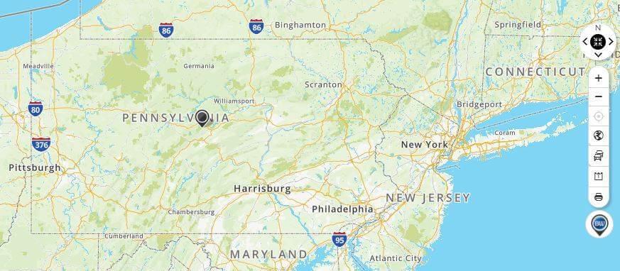 MapQuest Pennsylvania