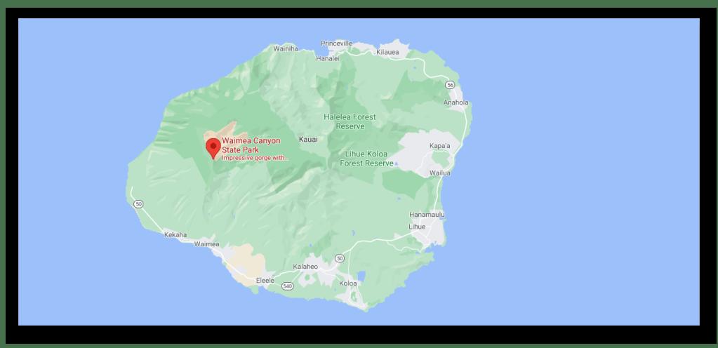 Kauai Island Hawaii - Waimea Canyon State Park