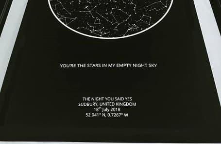 real starry sky c print