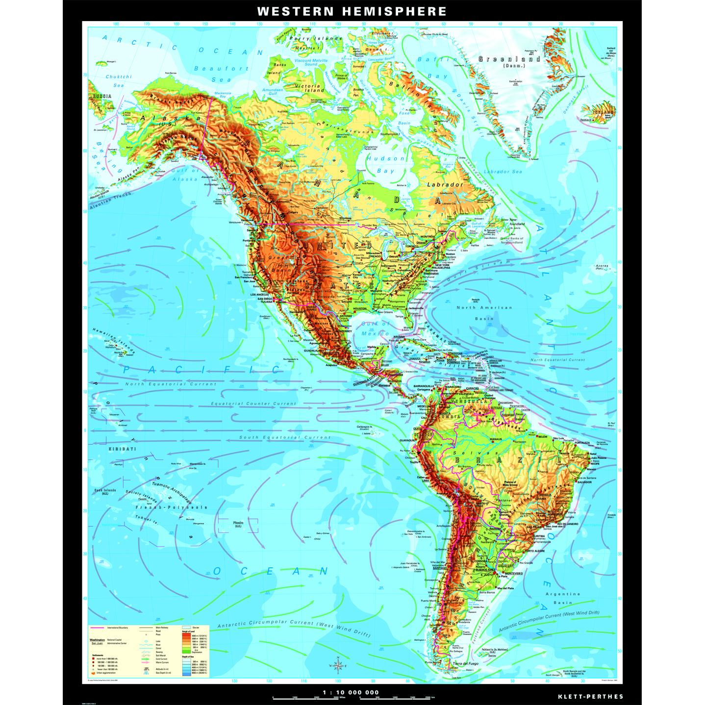 The Western Hemisphere Physical Map