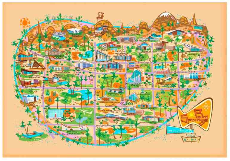 palm springs retro map