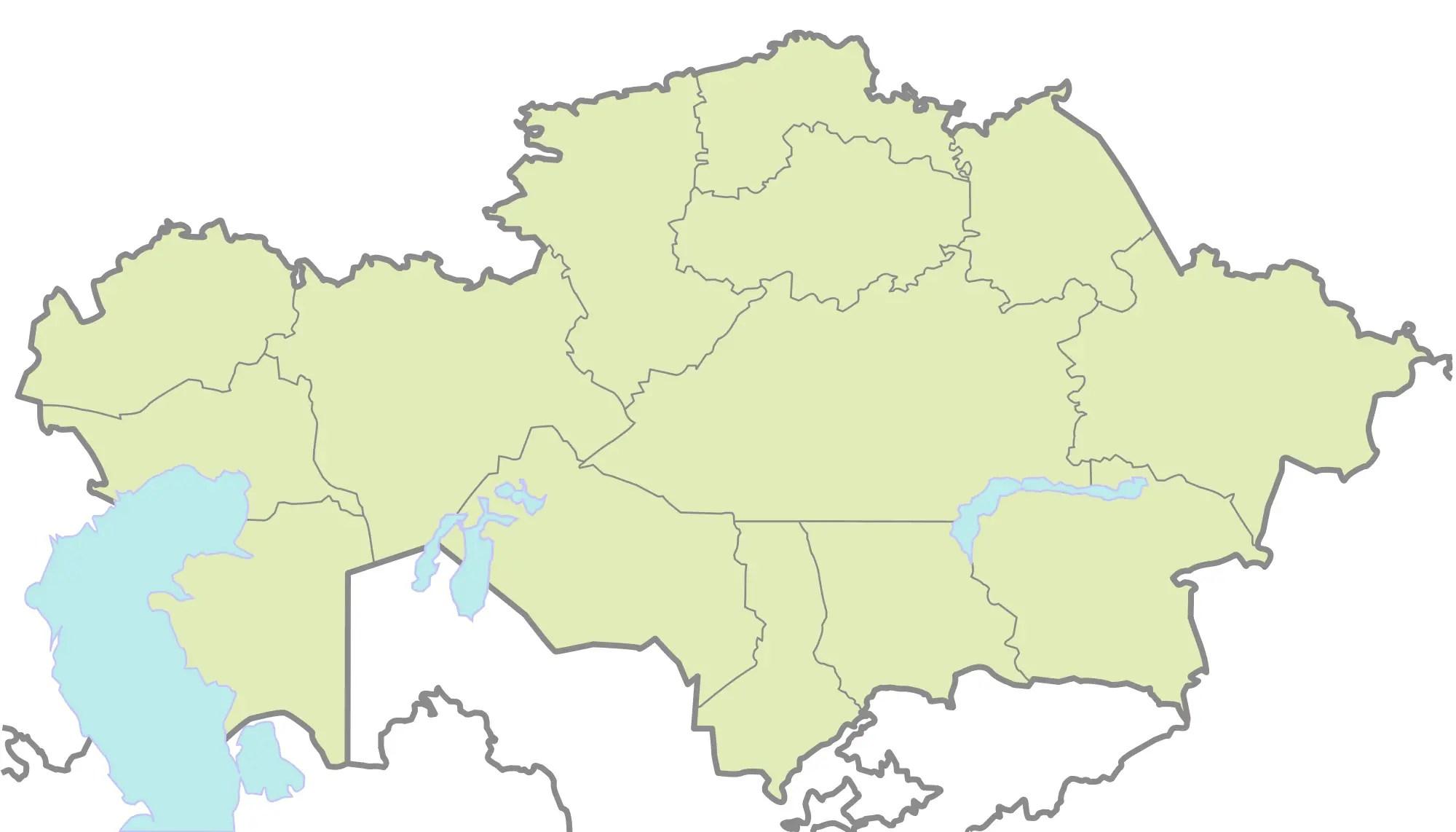Kazakhstan Blank Map Mapsof Net