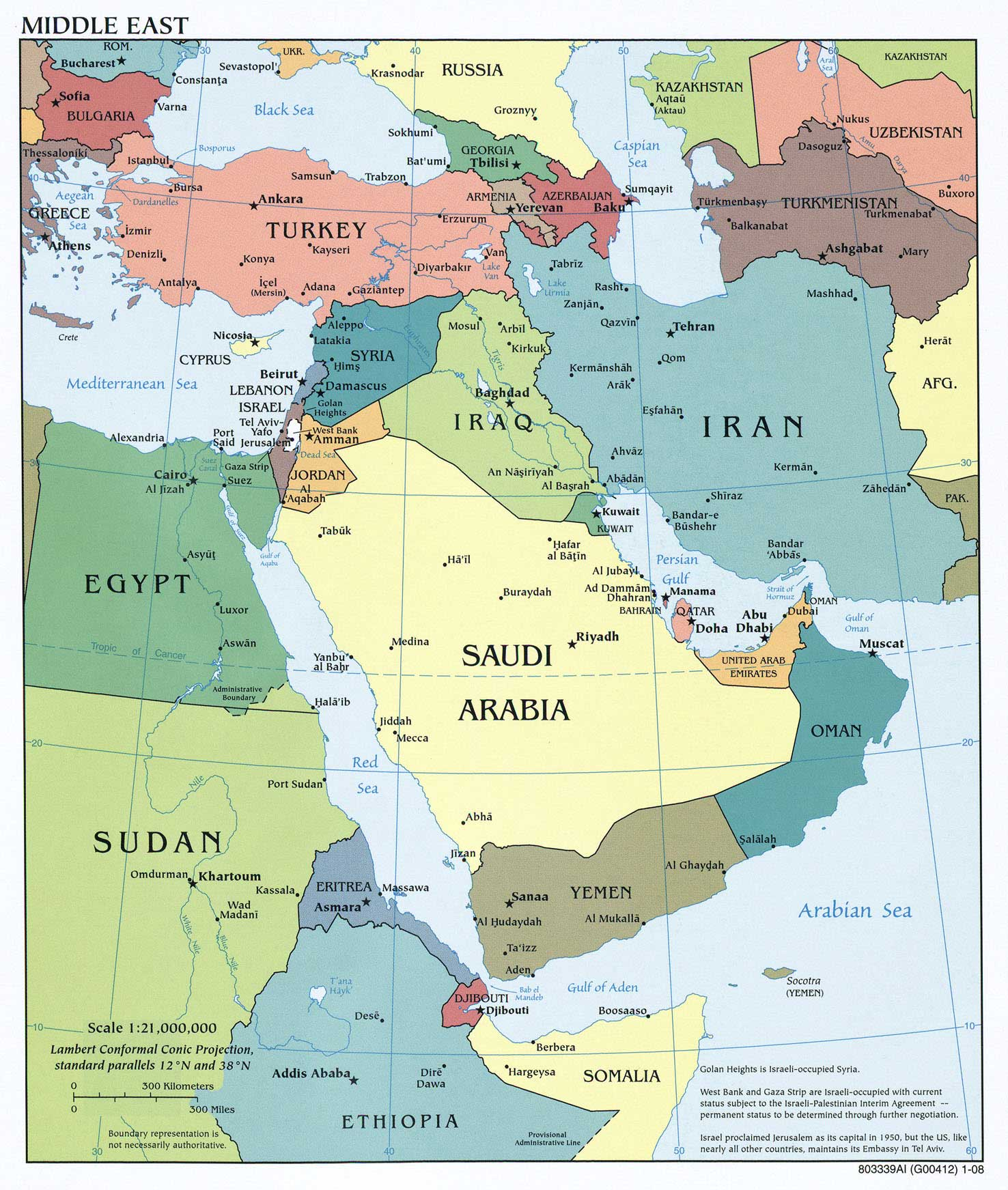 Middle East Political Mapsof