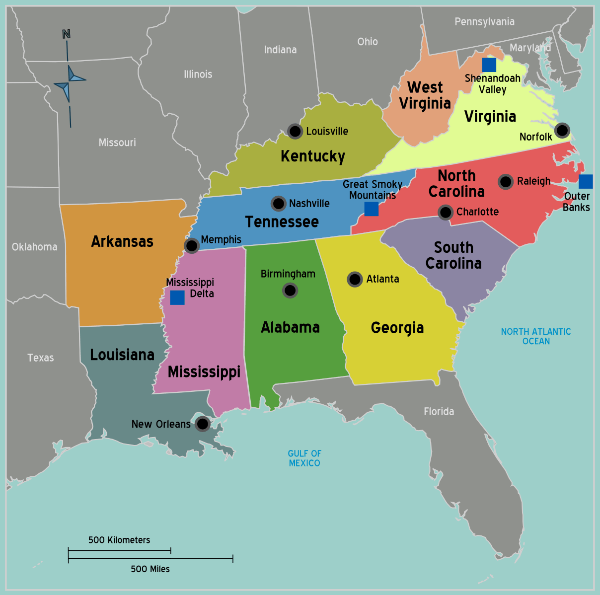 What States Are Considered To Be A Part Of The Southeast