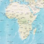 Africa Countries Physical Map Mapsof Net