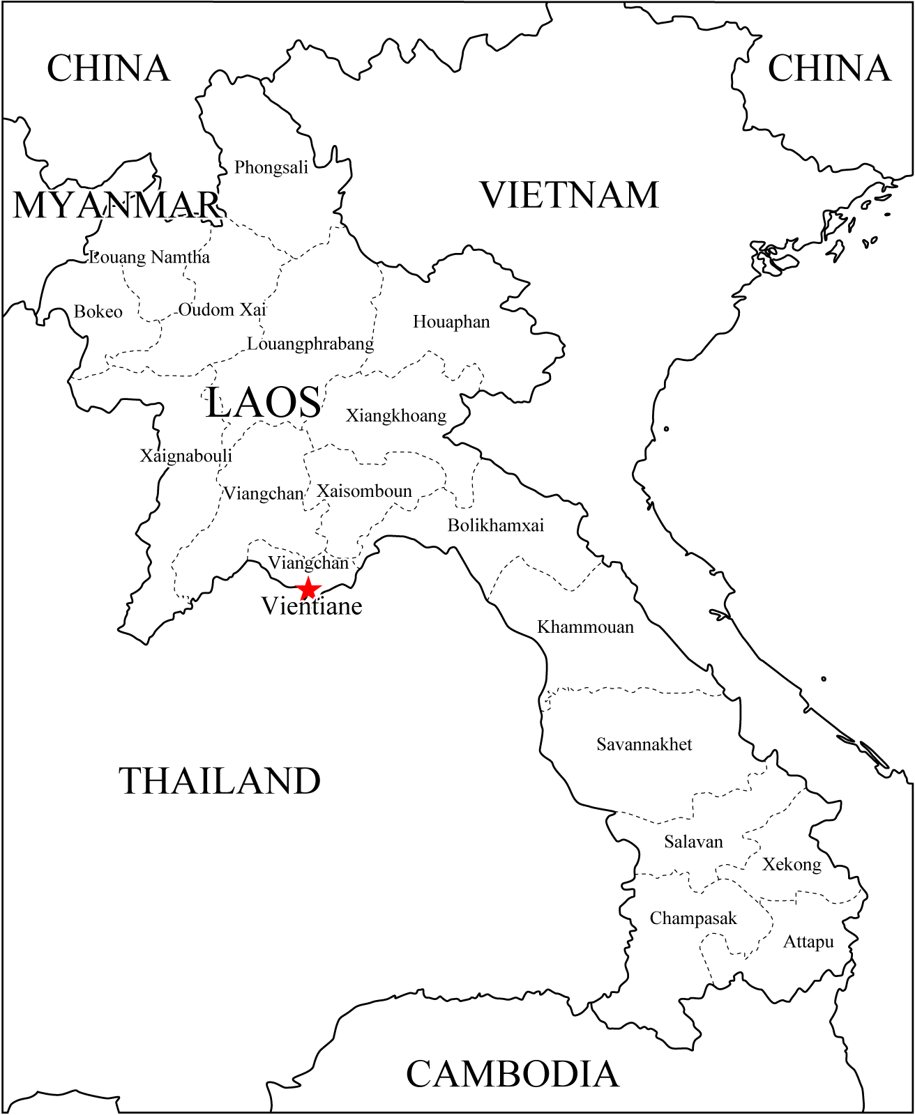 Asia Laos Map Mapsof