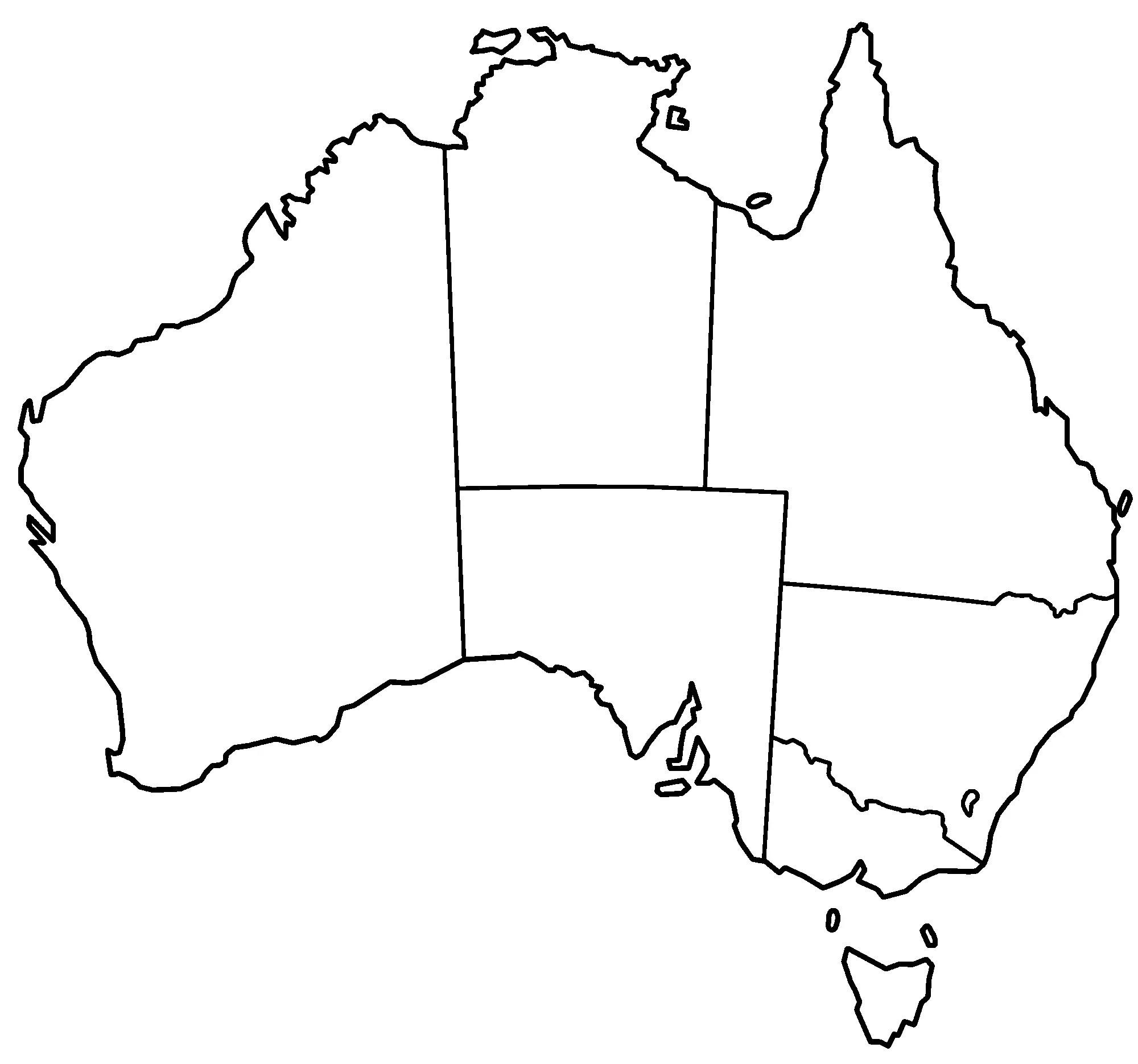 Australia States Blank Mapsof