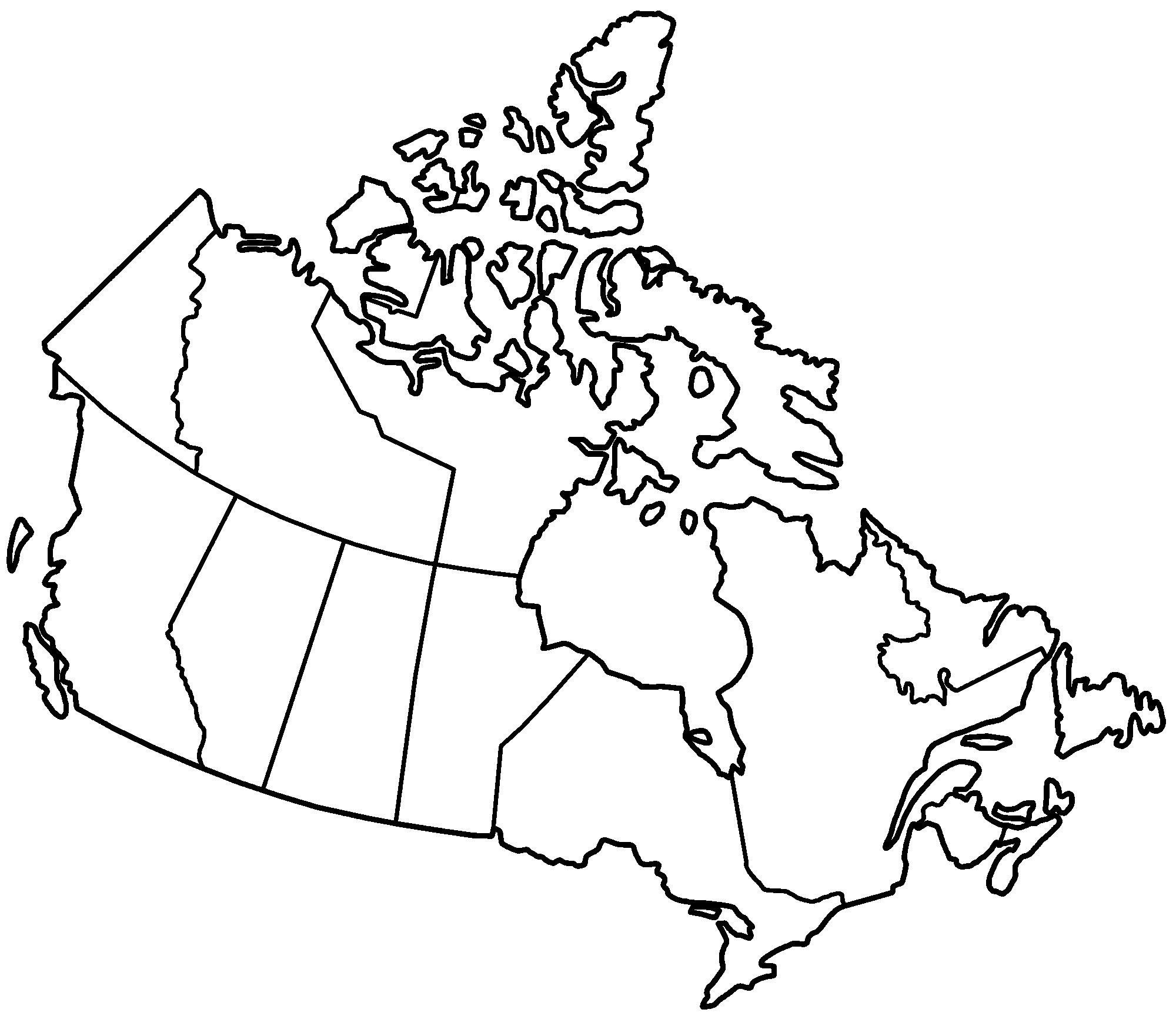 Canada Provinces Blank Mapsof