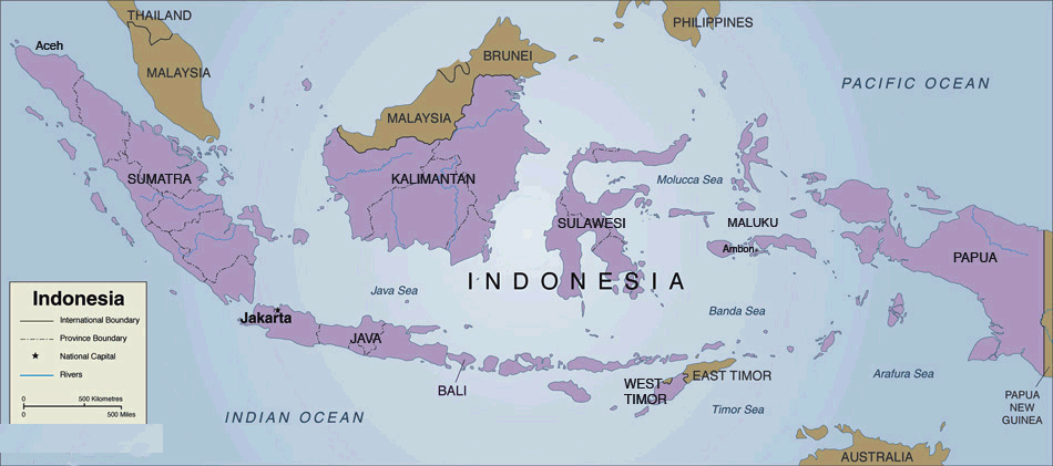 Indonesia Country Map 2     Mapsof net Click on the Indonesia Country Map 2