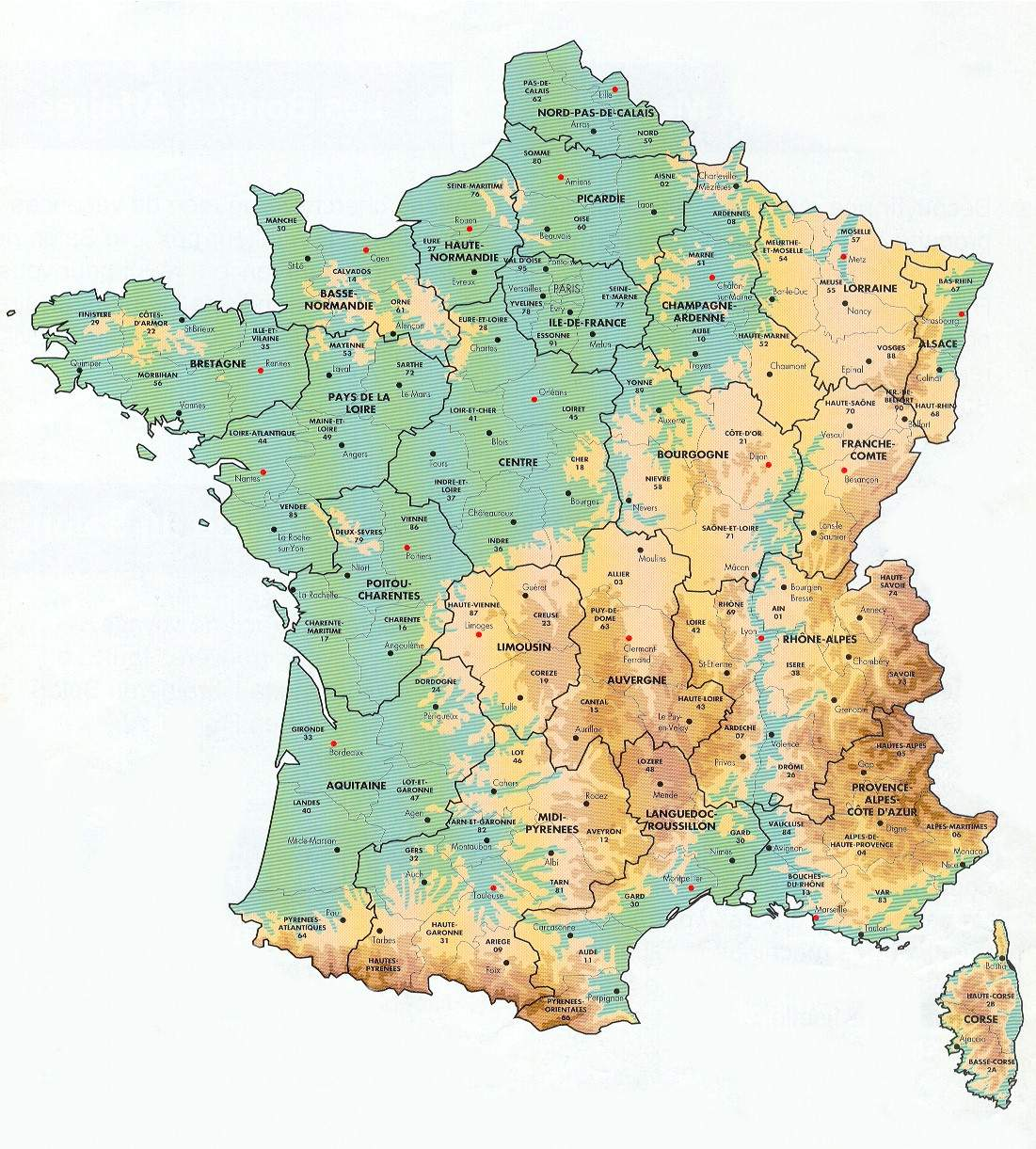 Map France Departments Mapsof