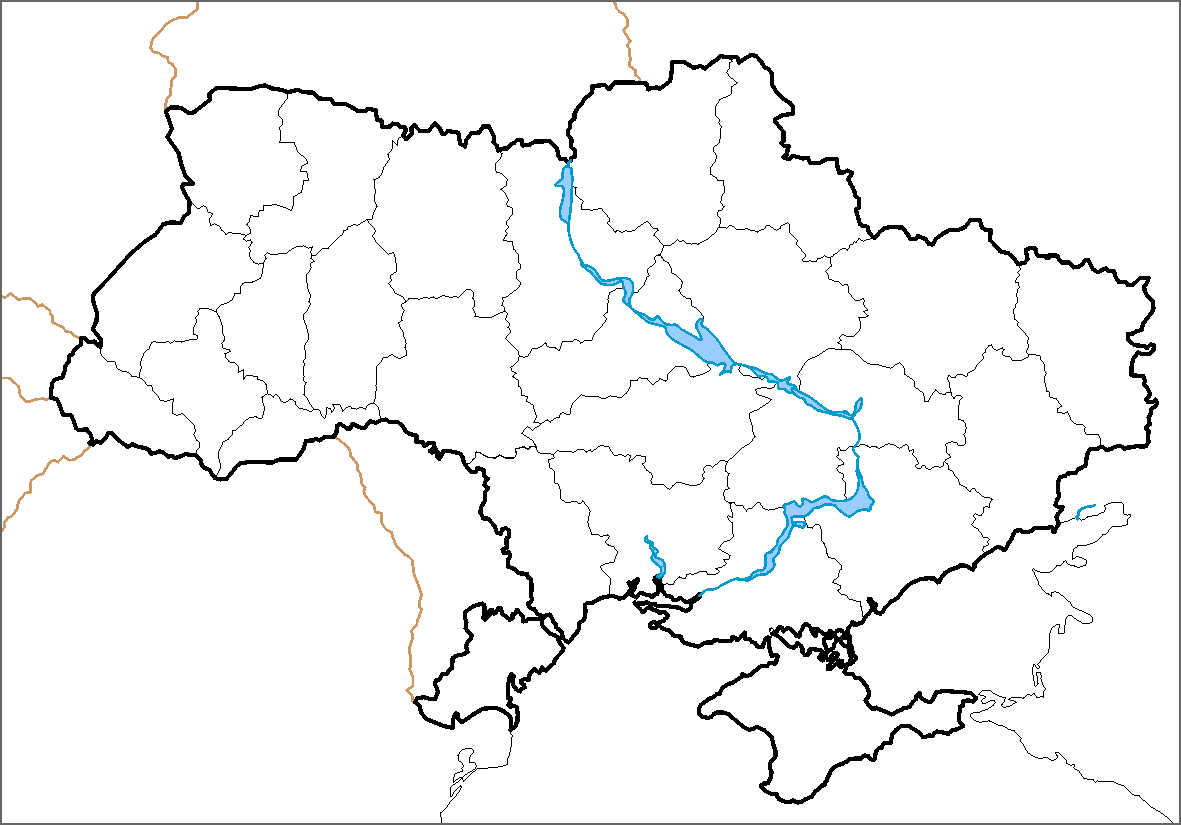 Map Of Ukraine Political Simple Blank Mapsof