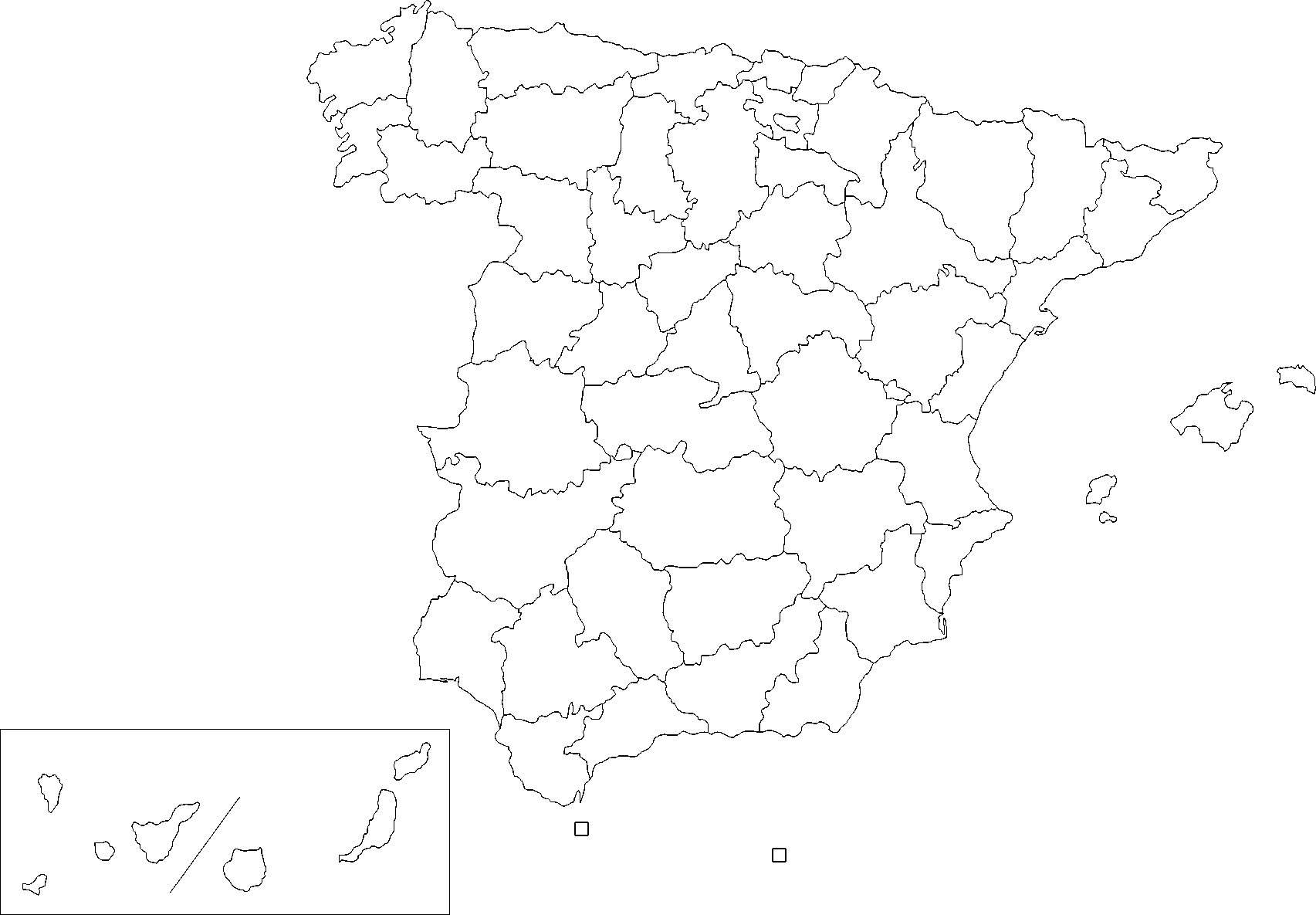 Blank Map Of Spain And Portugal
