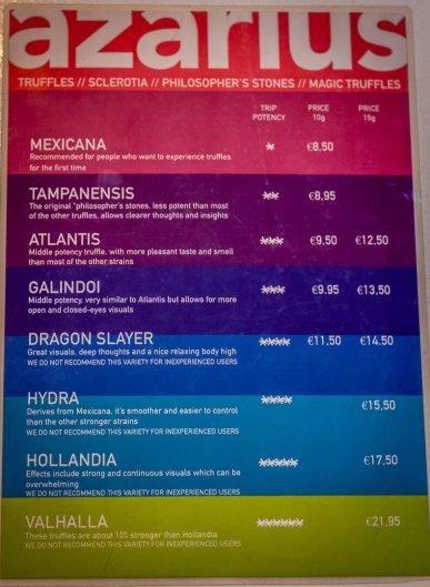 truffle menu amsterdam