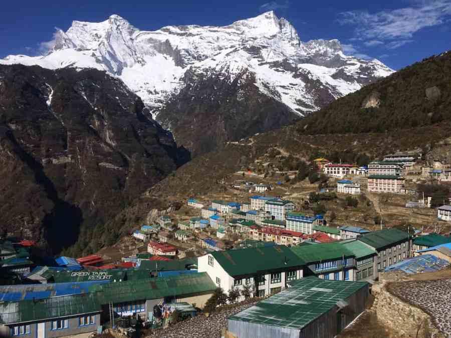 Namche-Bazaar-Campsite-View-ASocialNomad-Sarah-Carter-Nepal-Bucke-List-Camping