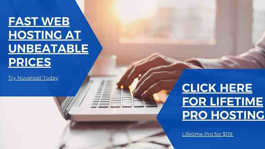 Travel Blogger on Their Laptop With Fast Web Hosting