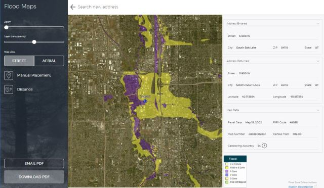 Flood Map STDB Example
