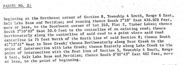 Legal Description 1980's
