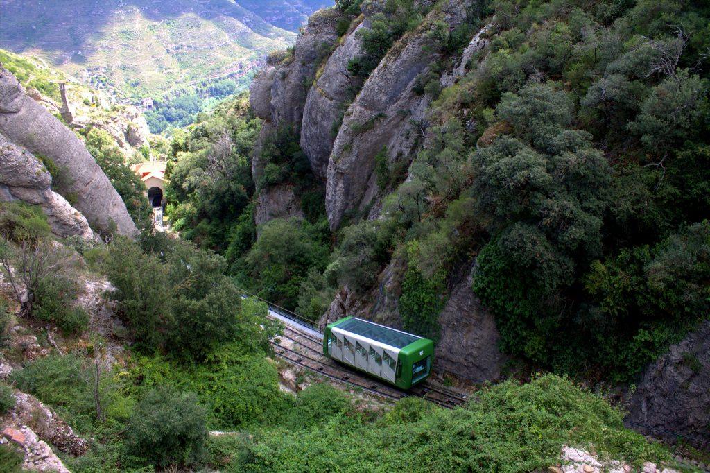 Santa Cova funicular railway, Montserrat