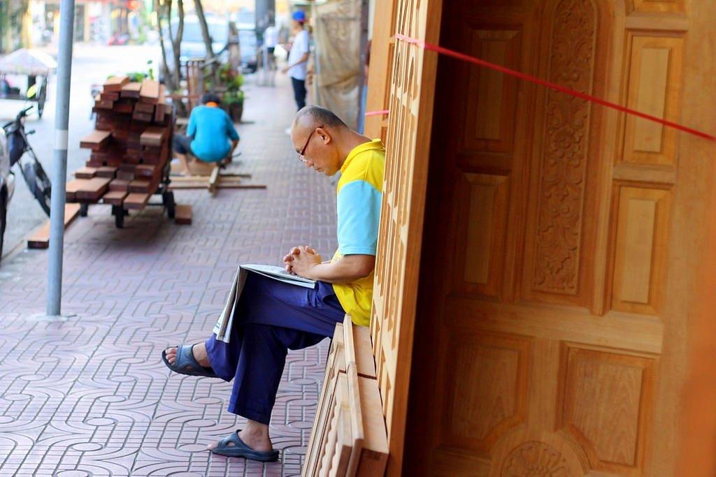 Carpentry quarter in Bangkok, Thailand