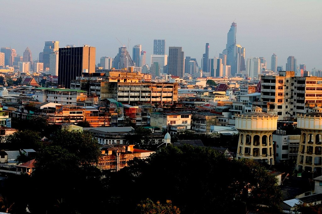 View across Bangkok from Golden Mount