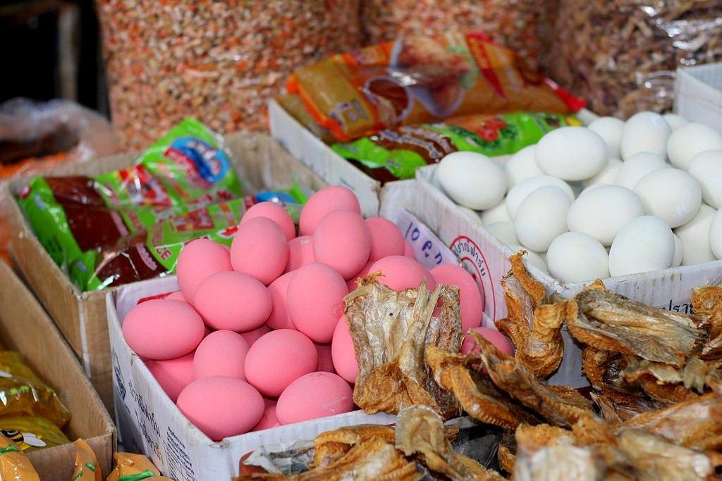 PInk eggs in Chiang Rai