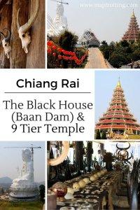 The Black House (Baan Dam) and 9 Tier Temple, Chiang Rai, Thailand